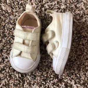 Converse Glitter Velcro Shoes Size 3